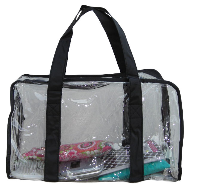 Large Clear Vinyl Security Purse