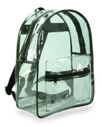 Clear Plastic Vinyl Security Backpack
