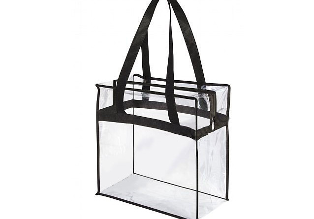 Clear Vinyl Security Tote Bag
